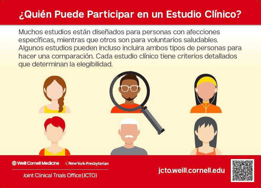 ¿Quién Puede Participar en un Estudio Clínico?